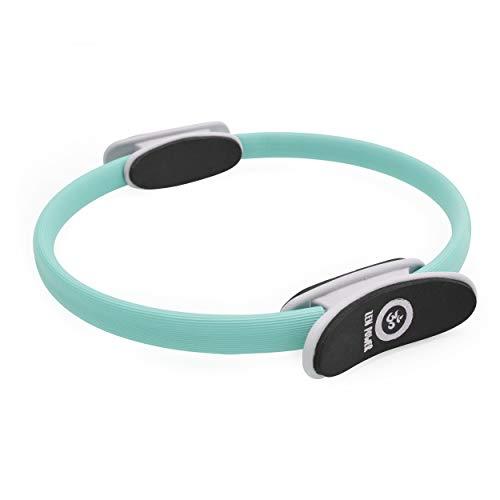 Anillo de Pilates/de Yoga ZenPower - Dispositivo de Entrenamiento para un entramiento de Fuerza y Resistencia eficaz, Anillo con un diámetro de 38cm - Color: Turquesa