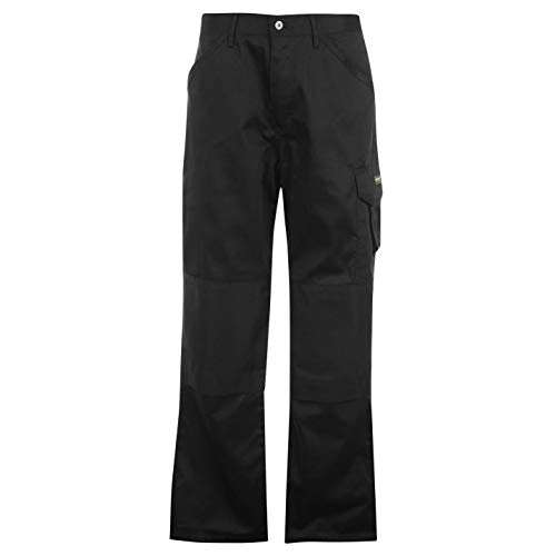 Dunlop Herren Cargo Safety Arbeitshose Hose Mit Taschen Arbeitskleidung Schwarz Large