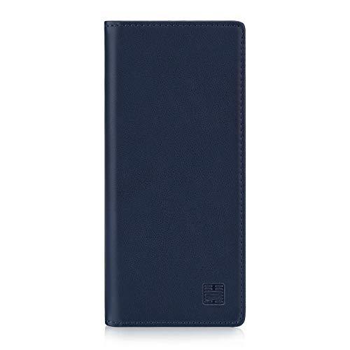 32nd Klassische Series - Lederhülle Hülle Cover für Sony Xperia 10 Plus (2019), Echtleder Hülle Entwurf gemacht Mit Kartensteckplatz, Magnetisch & Standfuß - Marineblau