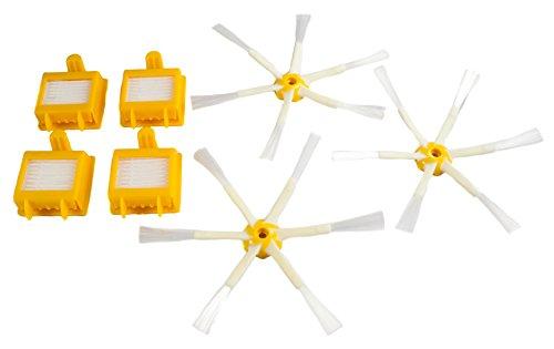 Kit de rechange Hannets de qualité supérieure compatible avec iRobot Roomba série 700 I I Robot Roomba Brosses latérales Aspirateur Robot I Accessoires Roomba Aspirateur N° 7.0.3/6.4.