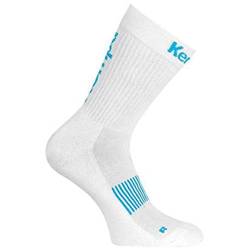 Kempa Unisex Logo Classic Socks Winter-Zubehr-Set, Blanco/Aqua, 36-40