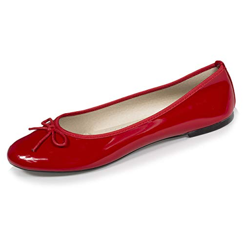 Isotoner Ballerines Femme Vernie,Rouge,38 EU