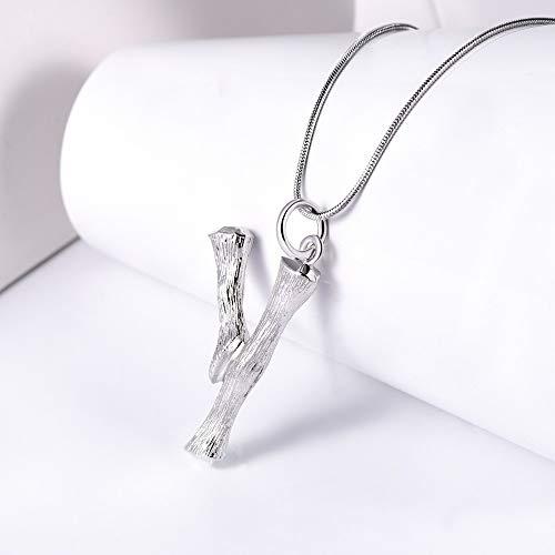 NSXLSCL Halsketting voor dames, 3D-Engelse letters Y hanger, halsketting, cadeau voor mannen en vrouwen, slangenketting, legering, zilver, kleur