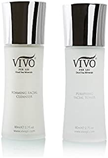 Vivo Per Lei پاک کننده تونر مجموعه   پاک کننده صورت Foaming و کیت تونر دریای مرده   پاک کننده صورت برای یک تجربه پاک کردن کامل   تمیزکننده و پاک کننده تمیز برای انواع پوست وعده داده است