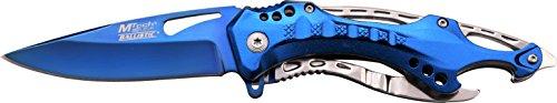 MTech USA Taschenmesser MT-A705 Serie, Messer ALU KOMBI AUFSATZ Griff, Blau Design, scharfes Jagdmesser, Outdoormesser 9-9,53 cm ROSTFREI Klinge, Klappmesser für Angeln/ Jagd, Überlebensmesser