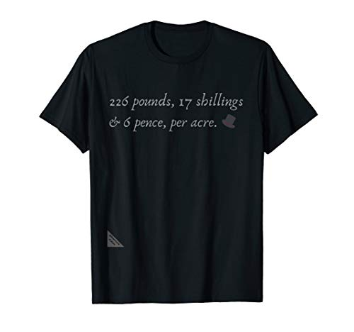 Anne Lister Per Acre Hat Lesbian Diaries Fan LGBTI Gift Tee T-Shirt