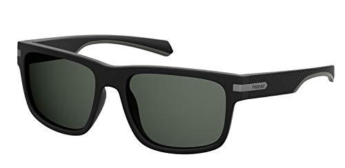 Polaroid Unisex-Erwachsene PLD 2066/S Sonnenbrille, Schwarz (MTT Black), 55