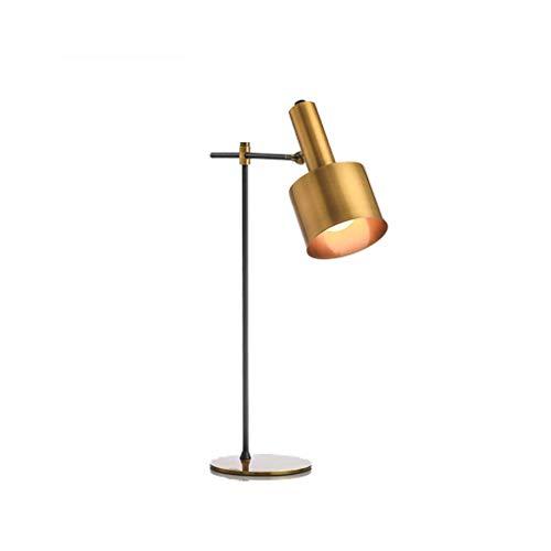 Lámpara de mesa de metal natural de cobre, moderna y moderna, de estilo chino y creativo, de lujo, para salón, mesa de centro, dormitorio, mesita de noche