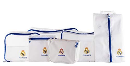 REAL MADRID Pack Organizador 5 Piezas y Neceser Viaje RM
