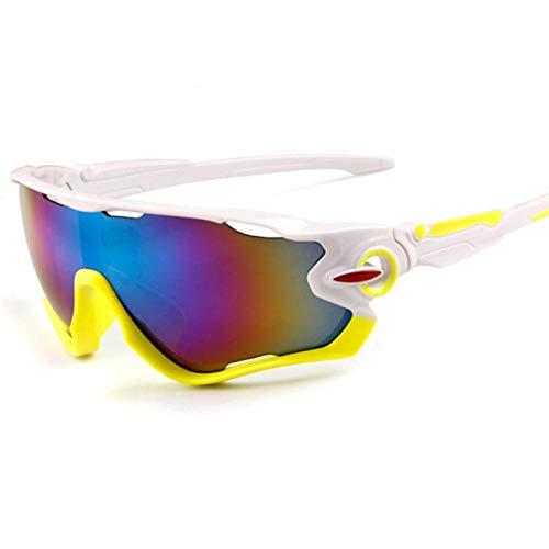 Gafas de ciclismo Gafas de sol deportivas Gafas de bicicleta de montaña al aire libre Comercio exterior-Mercurio verde blanco sólido
