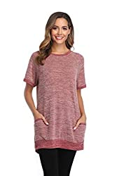 Soft and comfy summer tshirt. Cozy, lightweight feel material. Vibrant color. No fade and shrink. Size: S-29XL. lots of colors for you to choice. Fit for any body shape. Classic colour block tee and contrast color tops with side pockets. Cute for a p...