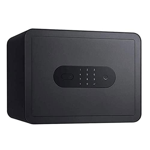 XiYou Caja de Seguridad Segura, depósito Inicio Contraseña pequeña Huella Digital Antirrobo Gabinete de Archivos de Oficina Pared de cabecera Cerradura de Nivel C Núcleo Desbloqueo
