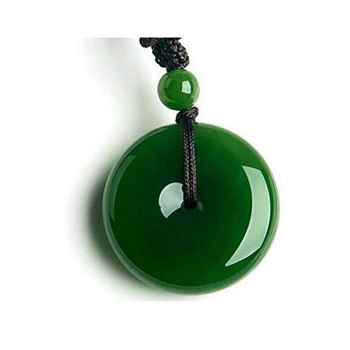 TCross Hetian Biyu hebilla de paz, colgante de hebilla de seguridad verde espinaca, colgantes para hombre y mujer (tamaño: como se muestra)