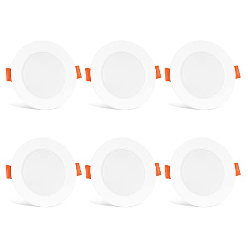 LED Einbaustrahler 8W Warmweiß Leuchtmittel LED Deckenstrahler Deckenspots Deckenleuchte Einbaustrahler Einbauspots Deckeneinbauleuchte Deckeneinbaustrahler 6er Pack