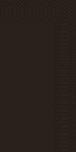 Duni 176939 2 plis Serviettes en papier, 40 cm x 40 cm, pliée, 1/8 plis, Noir (Lot de 1200)