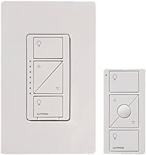 Lutron P-PKG1W-WH-R Caseta Clear Connect Single-Pole/3-Way Dimmer, 150-Watt, White - Quantity 3