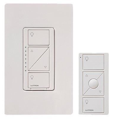 MMSD P-PKG1W-WH-R Caseta Clear Connect Single-Pole/3-Way Dimmer, 150-Watt, White - Quantity 3