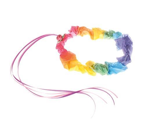 Diadema seda en colores del arco iris
