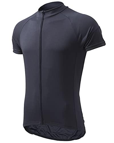 ウェルクルズ(Wellcls) 半袖 サイクルジャージ サイクルウェア メンズ 自転車 ロードバイク ウェア サイクリング 自転車ウェア ジャージ シャツ 春夏用 WL-BB052 (ダークグレー, L)