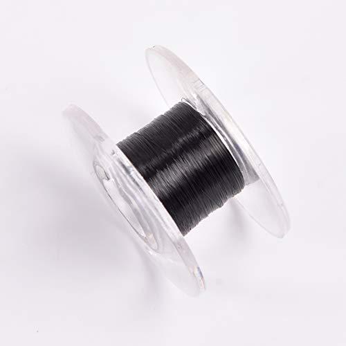 Doowops Tipo de desplazamiento Hilo invisible (Negro) Trucos de magia utilizados para flotantes magia escenario ilusión callejera trucos Mentalismo (hilo invisible elástico)