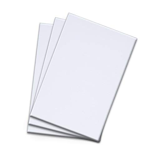 Netko White Plain Note Pads- 2x 100 Sheets Blank Writing Pads, Memo Pads for Multipurpose Use|4 x 6 inches (2Pack)