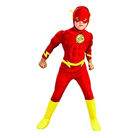 Rubie's DC Comics Deluxe Muscle Chest The Flash Child's Costume, Small