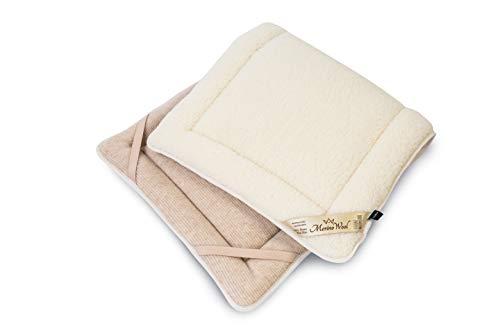 Merino wollen beddengoed Merino omkeerbare matras topper PERUGIANO 100% Merino wol dik, beschermer, Pad kinderbed, wieg bed Cover 60x150cm Gekleurd grootte WOOLAMRKED