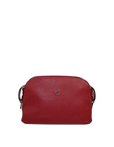 Texier Pochette en cuir ref_tex-41665-rouge-24 * 17 * 6