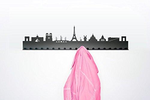 Radius Design Porte-Manteau Villes - Paris gris clair/acier peint poudrage