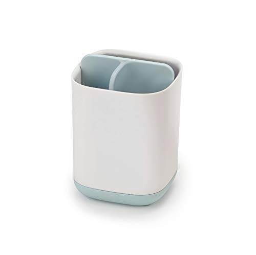 Joseph Joseph 70500 Easy-Store Toothbrush Caddy, Small, White & Pale Blue