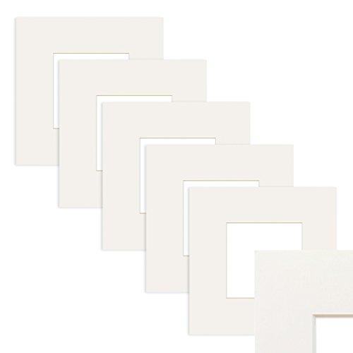 PHOTOLINI 5X Passepartout Weiß 50x50 cm (30x30 cm)