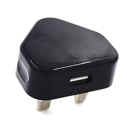 DBSUFV Enchufe del Reino Unido Adaptador de Enchufe USB de 3 Pines Cargador Enchufe de alimentación Enchufe de Pared Puertos USB para teléfonos Tabletas Dispositivos cargables para Viajes a casa
