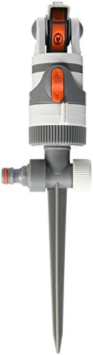 Bradas WL-Z01 4 Funktionen Kreisregner Rasensprenger bis zu 350 qm, Impulsregner, Neu, Grau, 15x5x5 cm