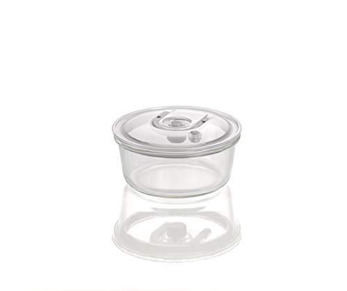 CASO VacuBoxx RL - rund 940 ml - hochwertiger Design Vakuumbehälter, BPA-Frei, mikrowellengeeignet, hitzebeständig, spülmaschinengeeignet