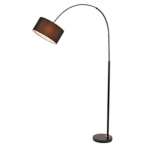 LLCX Lámpara de pie Curva,Luz de Lectura LED Regulable estándar,luz de pie en Forma de Arco E27 con protección Ocular Flexible de Cuello de Cisne y atenuación Continua,Sala de Estar,Regular