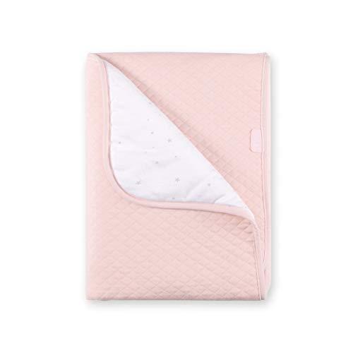 BEMINI Couverture nomade//Nid dange//BISIDE Collection Prety motif pois dor/és en Softy 90x90 cm