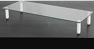 NavePoint Ergonomic Glass Tabletop Monitor Stand/Laptop Shelf Desktop Riser Platform