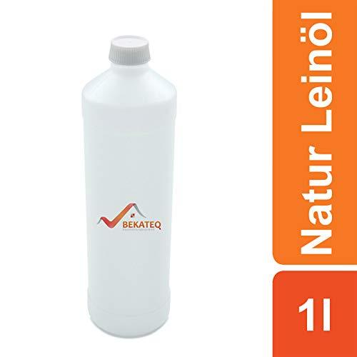 BEKATEQ BE-200 Natur Leinöl, 1l farblos, Holzöl, Holzschutz, Holzpflegeöl für innen und außen