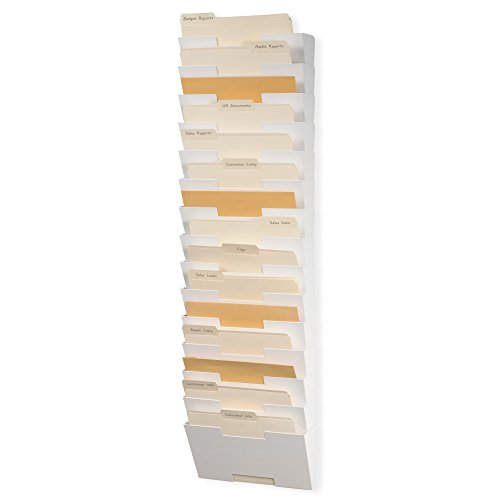 Wallniture Lisbon 15-Tier Wall Mounted File Holder and Desk...