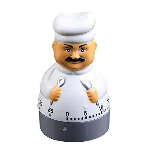 N/W Temporizador de cocina mecánico con temporizador de 60 minutos para cocina, cocina, hornear, cocinar al vapor