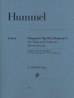 Preisvergleich Produktbild POTPOURRI OP 94 - FANTASIE VA ORCH - arrangiert für Viola - Klavier [Noten / Sheetmusic] Komponist: HUMMEL JOHANN NEPOMUK