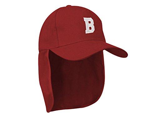MFAZ Morefaz Ltd Junior-Legionär-Stil Jungen Mädchen Mütze Baseball Nackenschutz Sonnenschutz Cap Hut Kinder Kappe A-Z Letter (B)