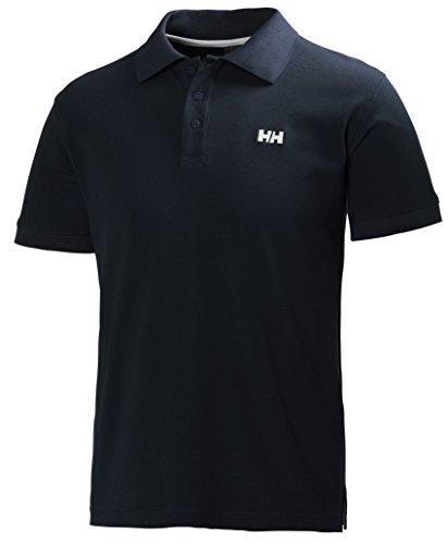 Helly Hansen Driftline Camiseta Tipo Polo de Manga Corta con Tejido de Secado rápido y Logo HH en el Pecho, Hombre, Azul (Marino), S