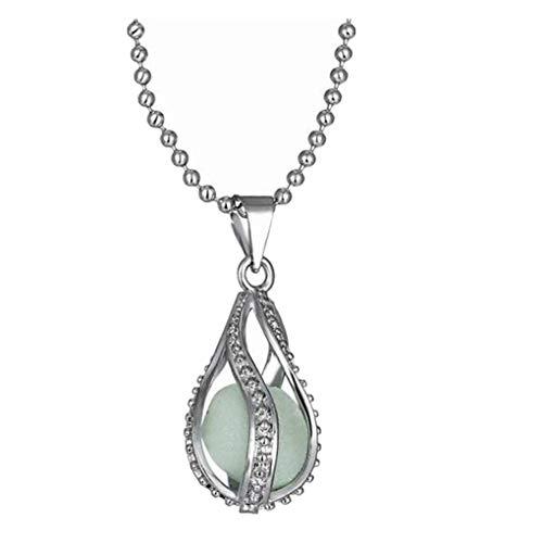 Dorical Damen Halskette Charm Blau Luminous Anhänger/Frauen Schmuck für Mädchen Geburtstag Geschenke/Accessoire Promo(Blau)
