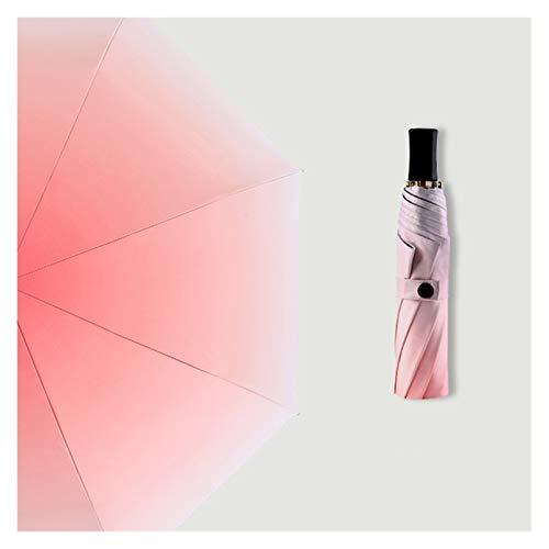 XINSHENG Store Tres Paraguas Plegable Lluvia de Las Mujeres a Prueba de...