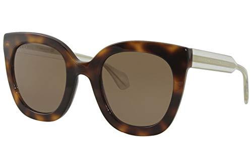 Gucci GG0564S Havana/Brown 002 GG0564S Gatos Eyes Gafas de Sol Lente Categoría 3 S