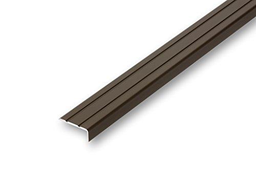 (6,47€/m) Treppenwinkel 10 x 25 x 1180 mm bronze selbstklebend Treppen-Kantenprofil Stufen-Profil Alu-Winkel-Profil Kantenschutzwinkel Profilwinkel Treppe (1180 mm selbstklebend, bronze)