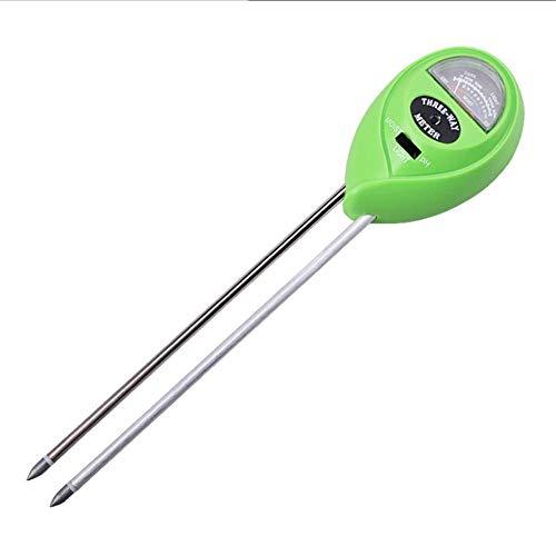 ZHAS Hellgrün 3 in 1 Boden PH Meter Feuchtigkeits- / Licht- / pH-Test Säure Luftfeuchtigkeit Sonnenlicht Gartenpflanzen Blumen Feuchttester Instrumentenwerkzeug
