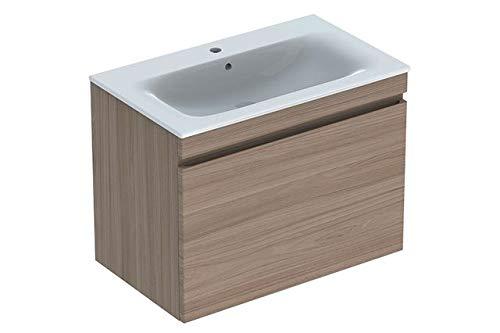 Keramag Geberit Renova Plan Waschtischunterschrank für Waschtisch, schmaler Rand mit 1 Schublade, 78,8x58,5x47,3cm, Ulme, 869582000