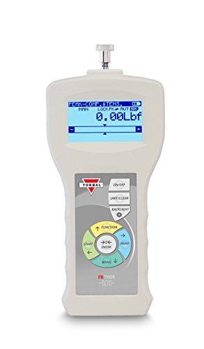 TORBAL FB500 medidor de fuerza digital con certificado NIST rastreable, 100lbf x 0.02lbf, tensión y compresión, microSD integrado, USB, RS232